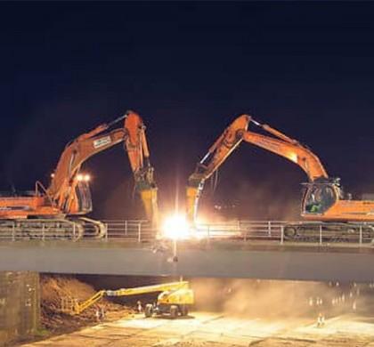 Demolición de un puente