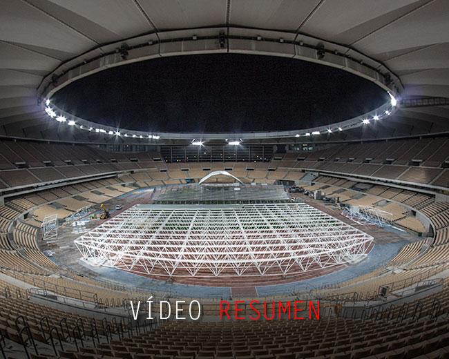Cubierta estadio olímpico
